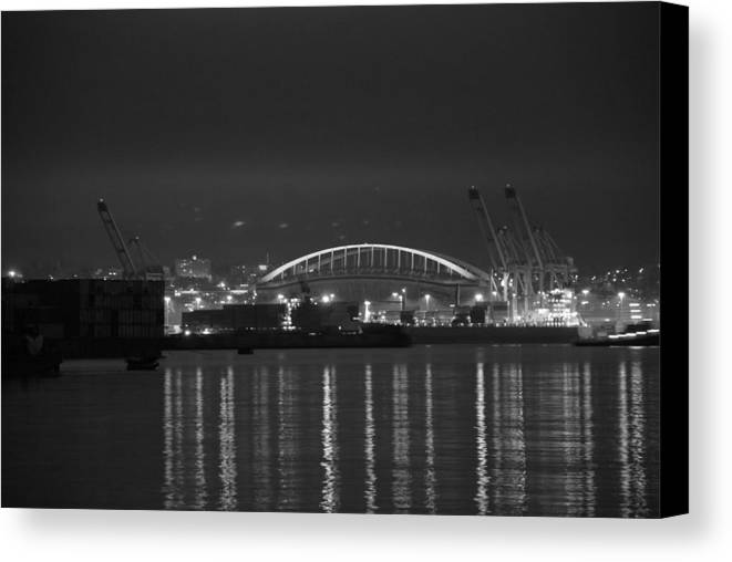 Football Canvas Print featuring the photograph Centurylink Field by Michael Merry