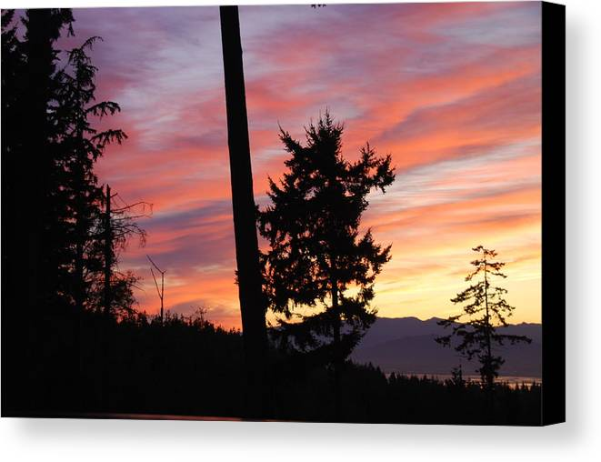Sunrise Canvas Print featuring the photograph Daybreak On The Island by Michael Merry