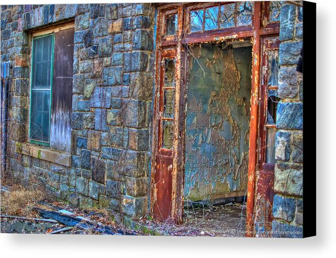 Letchworth Canvas Print featuring the photograph Doorway by Mike Horvath