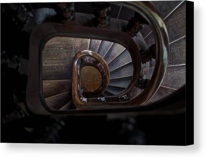Stairs Canvas Print featuring the photograph Downstairs by Andre Distel