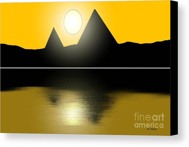 Egypt Canvas Print featuring the painting Egyptian Sunrise by George Pedro