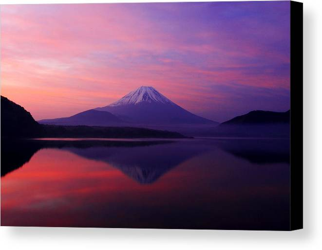 Mountain Canvas Print featuring the photograph Good Morning Mt Fuji by Kean Poh Chua