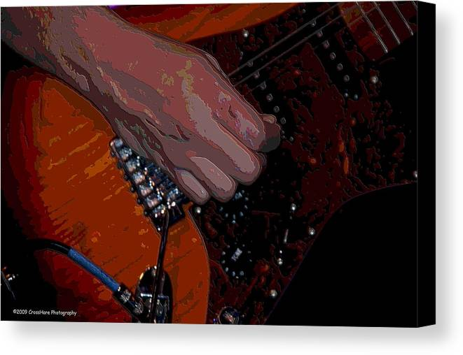 Guitar Canvas Print featuring the photograph Guitar by Michael Merry