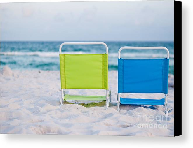 Beach Canvas Print featuring the photograph If I Were A Chair... by Barbara Shallue