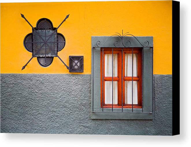 Architecture Canvas Print featuring the photograph Inside Or Out by Eggers Photography
