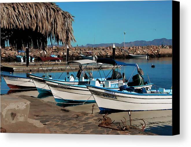 Baja California Canvas Print featuring the photograph Loreto Marina Siesta Time by Scott Massey