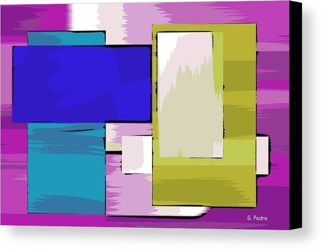 Digital Canvas Print featuring the painting Nombre Abstrait 11 by George Pedro