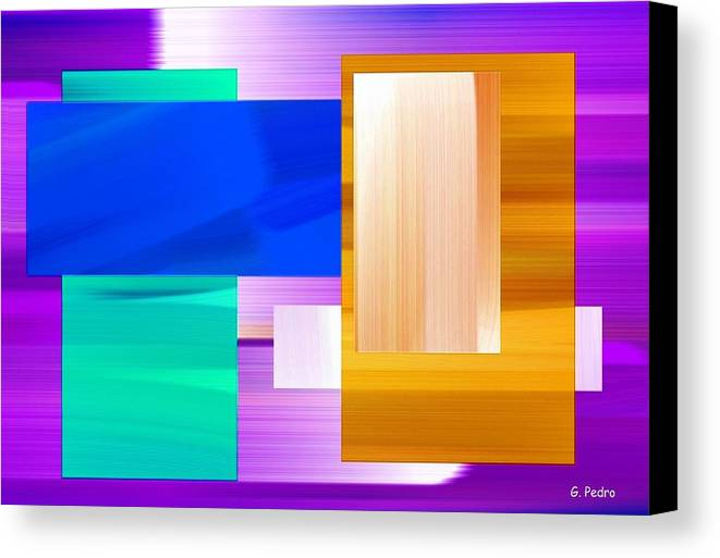 Digital Canvas Print featuring the painting Nombre Abstrait 7 by George Pedro