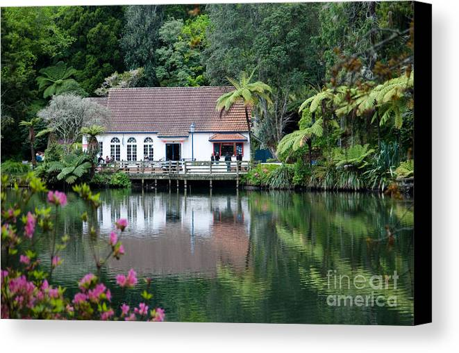 Calm Canvas Print featuring the photograph Old Lake With An Old Hut by Yurix Sardinelly