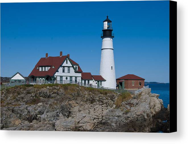 Portland Canvas Print featuring the photograph Portland Head Light by Peggie Strachan