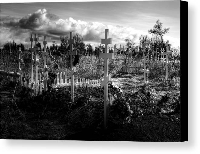 Russian Canvas Print featuring the photograph Russian Cemetery by Michele Cornelius