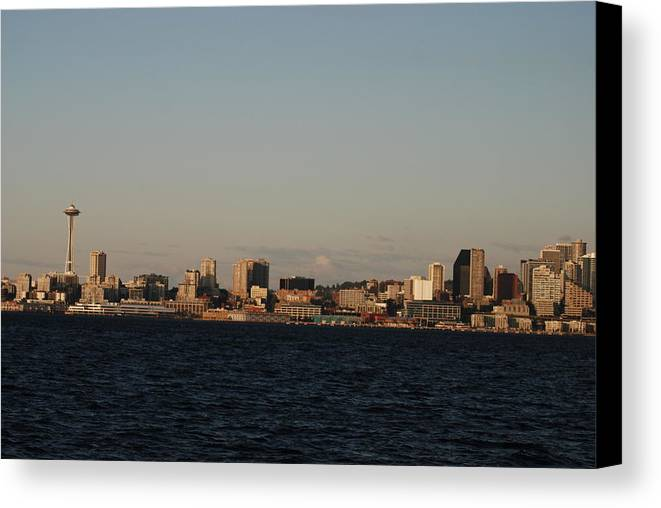 Seattle Canvas Print featuring the photograph Seattle by Michael Merry