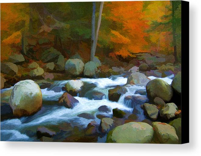 Sloatsburg Canvas Print featuring the photograph Stony Brook Stream by Steve Zimic
