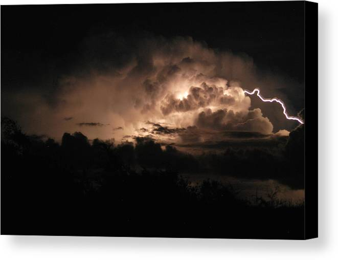 Storm Canvas Print featuring the photograph Storm Over Ocracoke by Julie Strickland