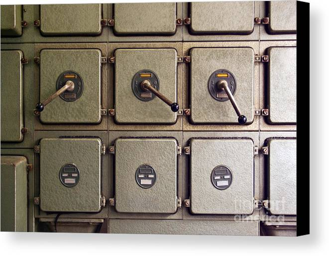 Automation Canvas Print featuring the photograph Switch Panel by Carlos Caetano