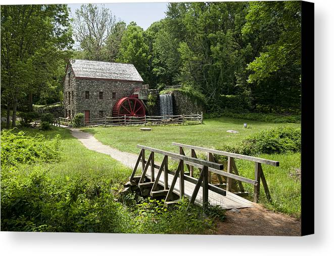 Grist Mill Canvas Print featuring the photograph The Grist Mill by Lee Fortier