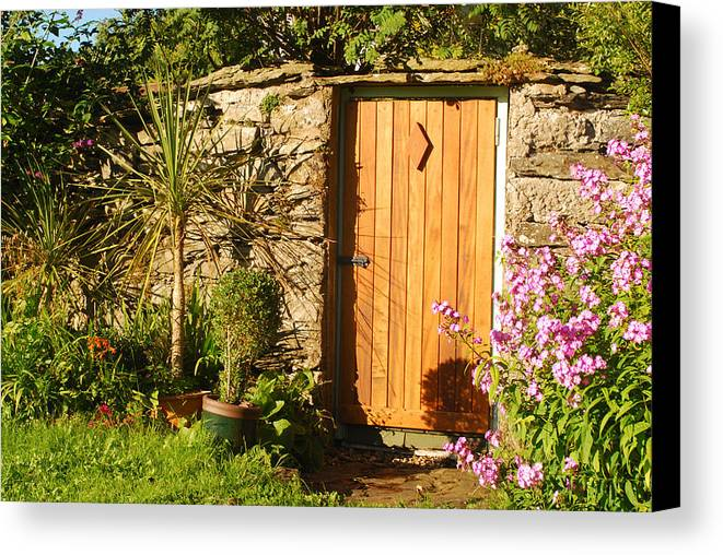 Cartmel Canvas Print featuring the photograph The Hidden Doorway by Peter Jenkins