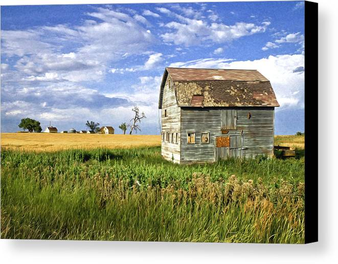 Mixed Media. Mixed Media Digtal Photography. Mixed Media Fine Art. Mixed Media Fine Art Photography. Farm Land. Farm House. Barns. Barn Yard. Famers Field. Planting Farms. Wheat Fields. Hay Fields. Hay Field Photography. Farm Land Photography. Cow Photography. Digtal Photography. Old Barn Photography. Blue Sky Photography. Old Barn Photography. Digtal Greeting Cards. Photography Greeting Cards. Farmer Field Greeting Cards. Hourse Photography. Barn Photography. Canvas Print featuring the digital art The Outcast by James Steele