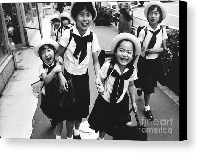 Tokyo Canvas Print featuring the photograph Tokyo by Bernard Wolff