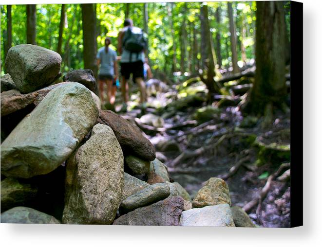 Hiking Canvas Print featuring the photograph Vt Hiking by Mike Horvath