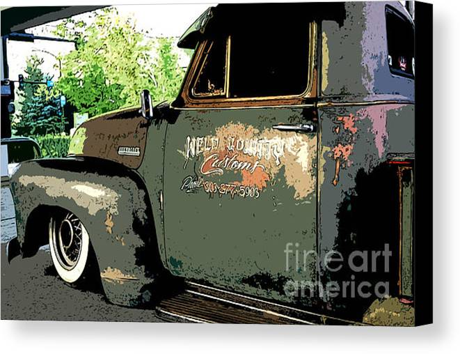 Weld County Customs Canvas Print featuring the photograph Weld County Customs by Guy Harnett