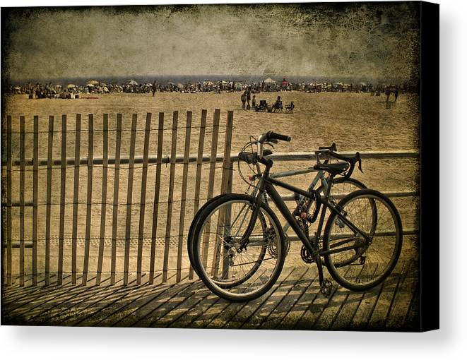 Fence Canvas Print featuring the photograph Gone Swimming by Evelina Kremsdorf