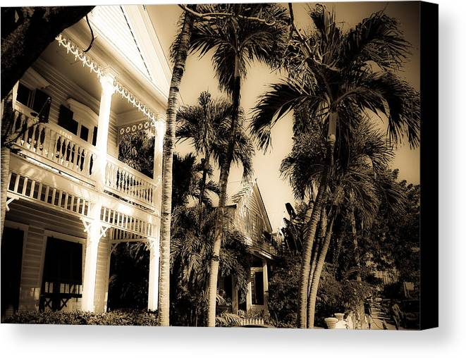 Florida Canvas Print featuring the photograph Key West House by Patrick Flynn