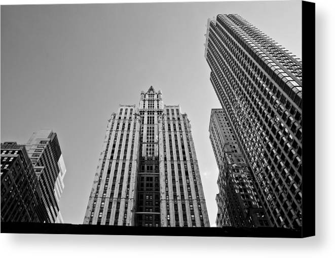 New York City Canvas Print featuring the photograph Nyc Buildings by Patrick Flynn
