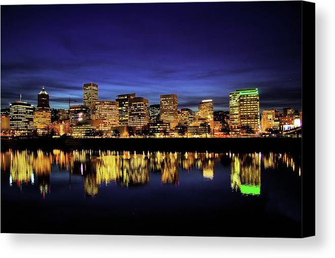 Portland Canvas Print featuring the photograph Portland Oregon by Don Siebel