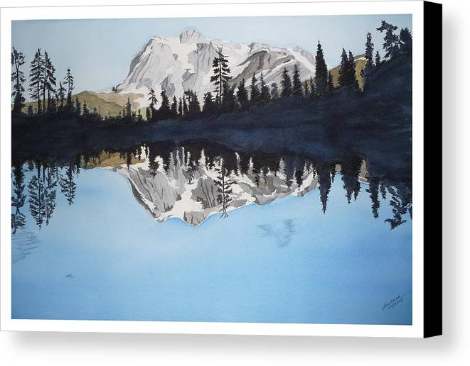 Reflection Lake Canvas Print featuring the painting Reflection Lake by Joel Deutsch