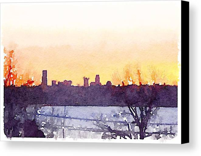 Canvas Print featuring the painting Seattle by Wade Binford