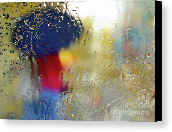 Abstract Canvas Print featuring the photograph Silhouette In The Rain by Carlos Caetano