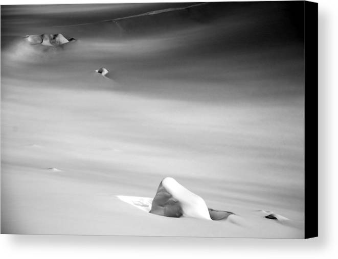 Snow Canvas Print featuring the photograph Snow And Ice by Alasdair Turner