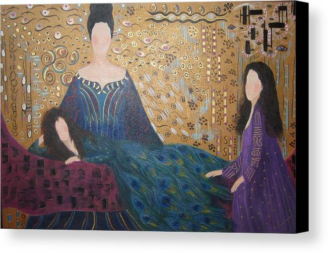 Figures Canvas Print featuring the painting Vanity by Sheryl Sutherland