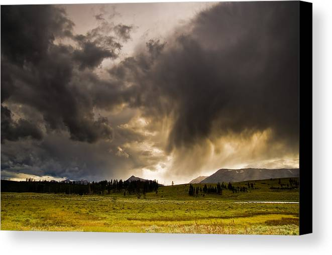 Clouds Canvas Print featuring the photograph Yellowstone Sky by Patrick Flynn