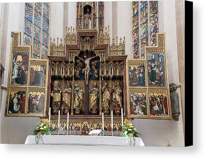 Apostles Canvas Print featuring the photograph 12 Apostles Altar - Rothenburg by Shirley Radabaugh