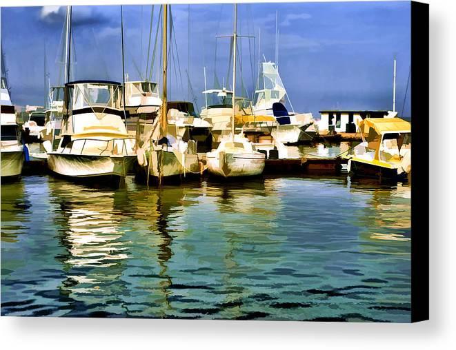 Yacht Club Canvas Print featuring the photograph Yacht Club by Galeria Trompiz