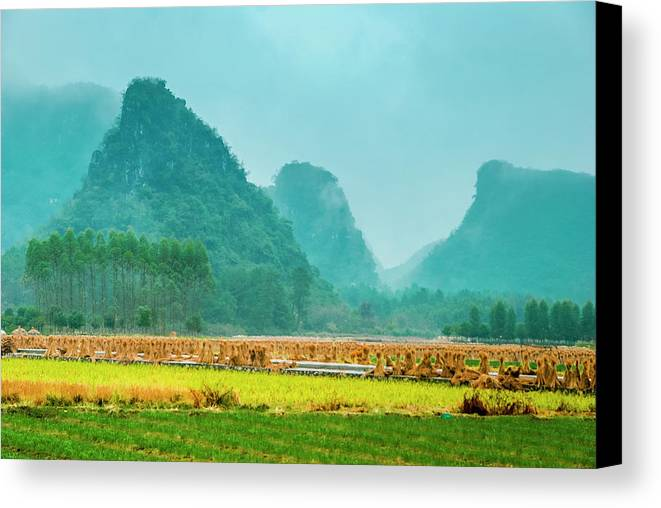 Countryside Canvas Print featuring the photograph Beautiful Countryside Scenery In Autumn by Carl Ning