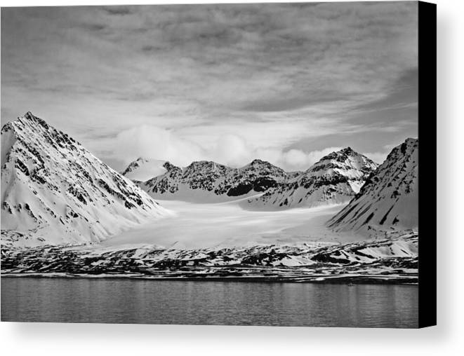 Black And White Canvas Print featuring the photograph 79 Degrees North O by Terence Davis