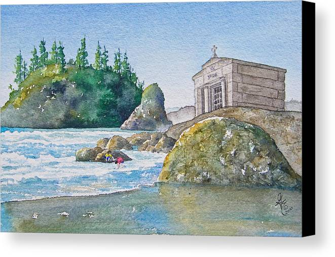 Ocean Canvas Print featuring the painting A Kingdom By The Sea by Gale Cochran-Smith