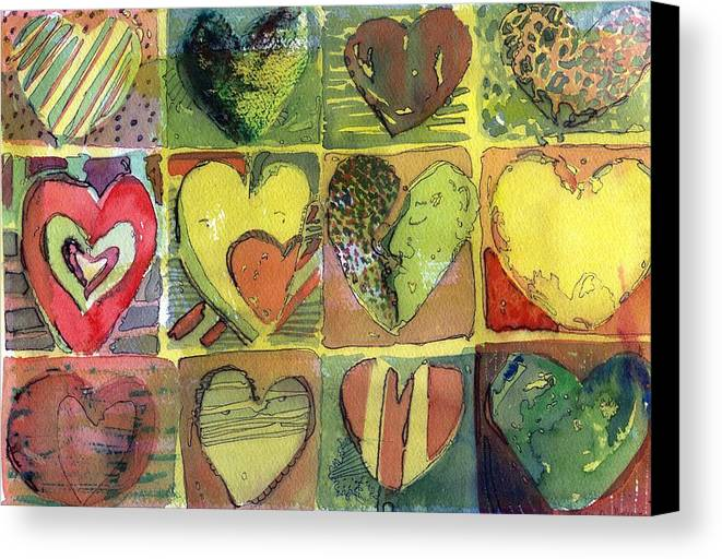 Valentine Canvas Print featuring the painting A Sunny Valentine by Mindy Newman