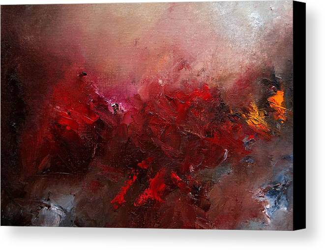 Abstract Canvas Print featuring the painting Abstract 056 by Pol Ledent