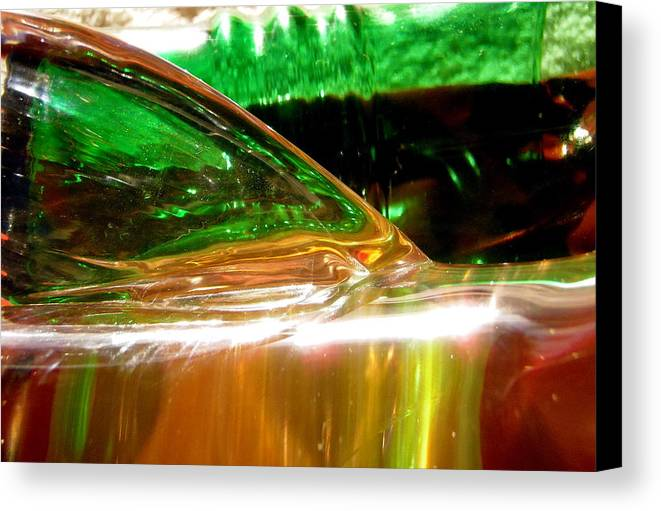 Abstract Canvas Print featuring the photograph Abstract 381 by Stephanie Moore