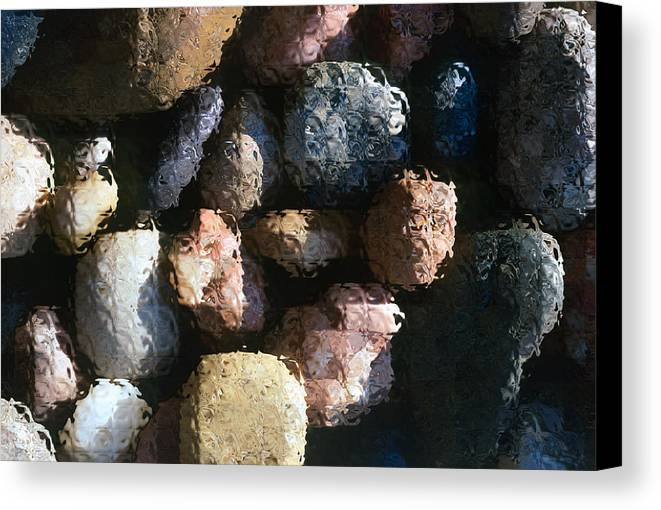 Rocks Canvas Print featuring the photograph Abstract Of River Rocks 2 by Steve Ohlsen