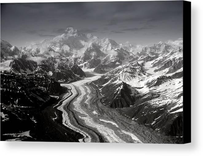 Glacier Canvas Print featuring the photograph Alaska Range And Denali by Alasdair Turner