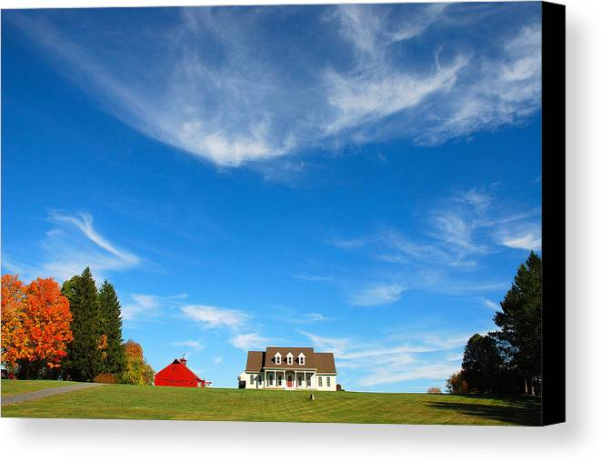 Country Canvas Print featuring the photograph American Dream Home by Mark Wiley