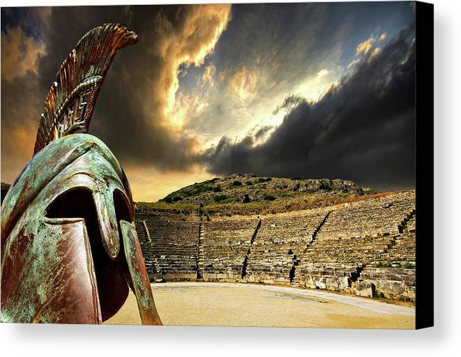 Greece Canvas Print featuring the photograph Ancient Greece by Meirion Matthias