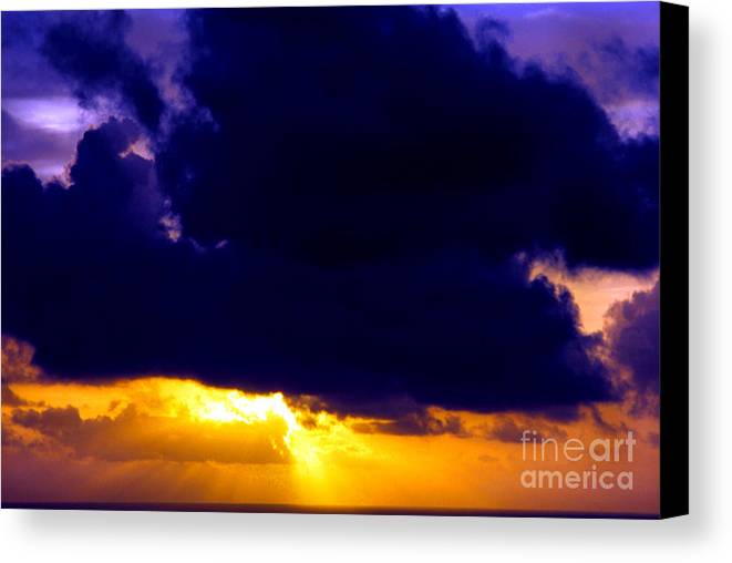 Antigua Sunrise Canvas Print featuring the photograph Antigua Sunrise by Thomas R Fletcher