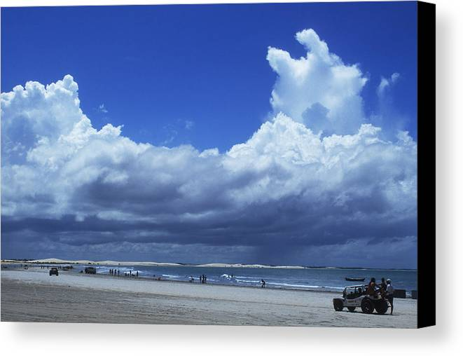Clouds Canvas Print featuring the photograph Beach In Brazil by Carl Purcell