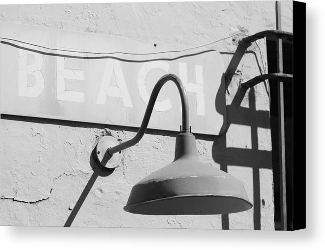 Black And White Canvas Print featuring the photograph Beach Light by Rob Hans